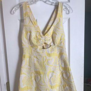 Trina Turk yellow cocktail dress